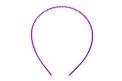 Cerchio della banda, della fascia o dei capelli dei capelli isolato su fondo bianco Fotografia Stock Libera da Diritti