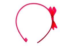 Cerchio della banda, della fascia o dei capelli dei capelli isolato su fondo bianco Immagini Stock