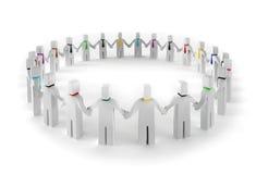 cerchio della gente 3d Fotografia Stock Libera da Diritti