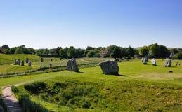 Cerchio della pietra di Avebury Immagini Stock