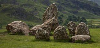 Cerchio della pietra di Castlerigg fotografia stock libera da diritti