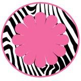Cerchio della priorità bassa della zebra della ragazza della diva Immagini Stock