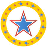 Cerchio della stella del circo Fotografia Stock Libera da Diritti