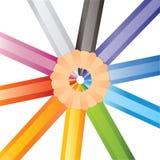 Cerchio delle matite colorate illustrazione di stock