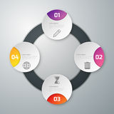 Cerchio di carta di infographics quattro dell'illustrazione di vettore royalty illustrazione gratis