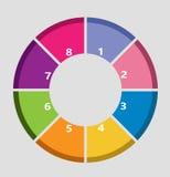 Cerchio di Inforgraphic Fotografia Stock