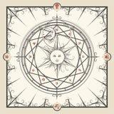 Cerchio di magia di alchemia illustrazione di stock