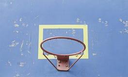 Cerchio di pallacanestro blu Immagini Stock