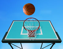 Cerchio di pallacanestro l Fotografia Stock