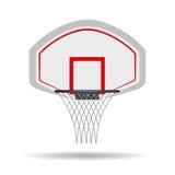 Cerchio di pallacanestro su fondo bianco Immagine Stock Libera da Diritti