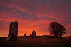 Cerchio di pietra di Avebury Fotografia Stock