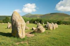 Cerchio di pietra di Castlerigg Fotografie Stock Libere da Diritti