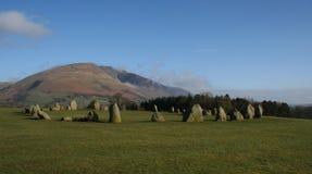 Cerchio di pietra di Castlerigg fotografia stock libera da diritti