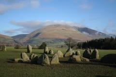 Cerchio di pietra di Castlerigg immagini stock