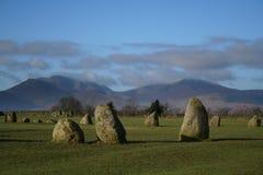 Cerchio di pietra di Castlerigg fotografie stock