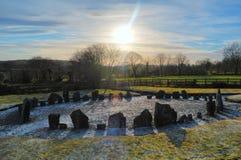Cerchio di pietra di Drumskinny, Irlanda del Nord Immagine Stock Libera da Diritti