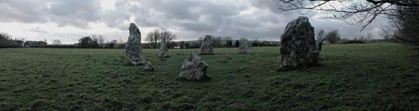 Cerchio di pietra Duloe, Cornovaglia delle streghe di Duloe Fotografia Stock Libera da Diritti