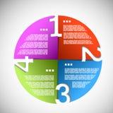Cerchio di progresso del documento di colore Fotografia Stock