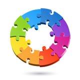 Cerchio di puzzle del puzzle Fotografia Stock