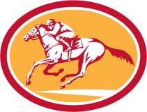 Cerchio di Riding Horse Racing della puleggia tenditrice retro Fotografie Stock