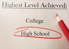 Cerchio di rosso della High School Fotografie Stock