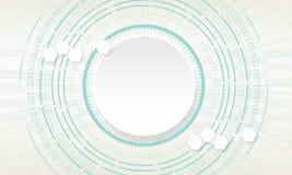 Cerchio di tecnologia su fondo bianco Illustrazione di vettore Fotografia Stock