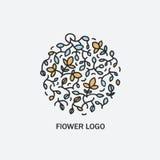 Cerchio di vettore con i fiori e le foglie Immagini Stock