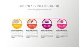 Cerchio di vettore infographic Fotografie Stock Libere da Diritti