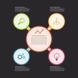 Cerchio di vettore infographic illustrazione vettoriale