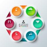 Cerchio di vettore infographic Immagini Stock