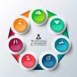 Cerchio di vettore infographic Fotografie Stock
