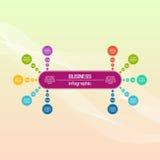 Cerchio di vettore infographic Diagrammi, presentazioni e grafici di affari Fondo Fotografia Stock