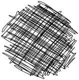 Cerchio disegnato a mano caotico di schizzo dello scarabocchio isolato illustrazione vettoriale