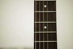 Cerchio e corde della chitarra acustica Immagine Stock Libera da Diritti