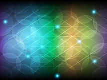 Cerchio e linea multicolori astratti fondo d'ardore Immagini Stock Libere da Diritti