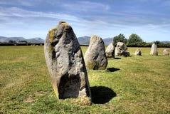 Cerchio e montagne della pietra di Castlerigg vicino a Keswick Fotografia Stock Libera da Diritti