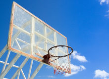Cerchio e rete di pallacanestro Immagine Stock