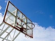 Cerchio e rete di pallacanestro Fotografia Stock Libera da Diritti
