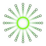 Cerchio e sfere verdi Logo Design Fotografia Stock Libera da Diritti