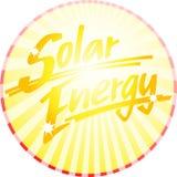 Cerchio a energia solare scritto a mano Immagini Stock