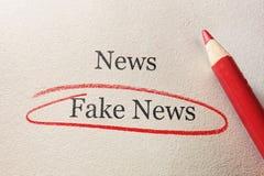Cerchio falso di rosso di notizie Immagine Stock