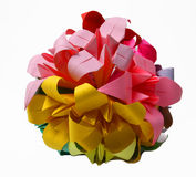 Cerchio fatto a mano di origami Immagine Stock