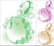 Cerchio floreale Fotografia Stock