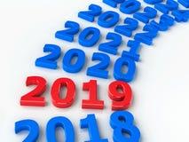 2019 cerchio futuro #2 illustrazione vettoriale