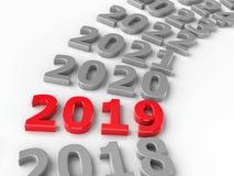 cerchio futuro 2019 illustrazione di stock