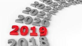 2019 cerchio futuro #3 illustrazione vettoriale