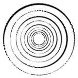 Cerchio geometrico con la rotazione distorta di forme Cerchio astratto illustrazione di stock