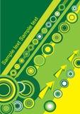 Cerchio giallo e verde Immagine Stock