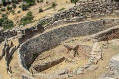 Cerchio grave A in Micene, Grecia Fotografia Stock