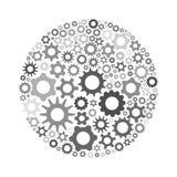 Cerchio grigio del dente illustrazione vettoriale
